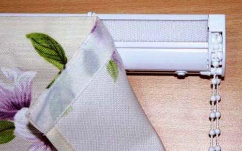 как крепить римские шторы