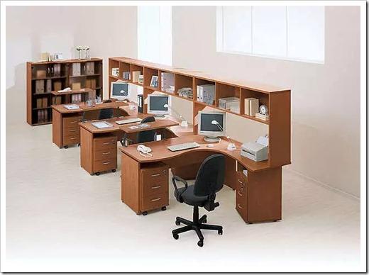 Использование конкретных материалов в офисной мебели