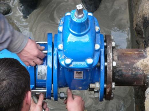 Монтаж запорной арматуры трубопроводов