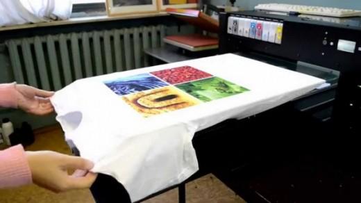 Как делают фотопечать на футболках