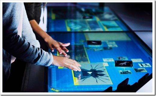 Использование интерактивных столов в сфере обслуживания и образовании